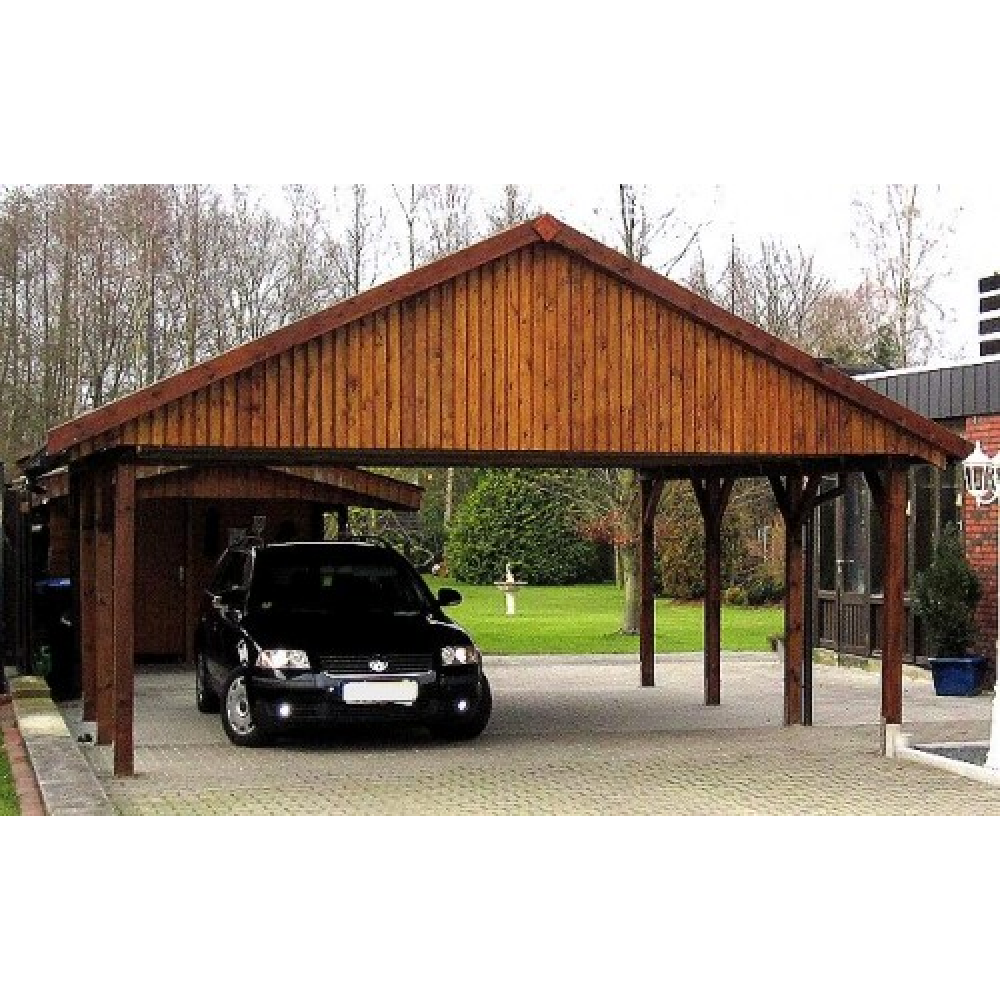 holzspezi prikker carport satteldach monza iv 700cm. Black Bedroom Furniture Sets. Home Design Ideas
