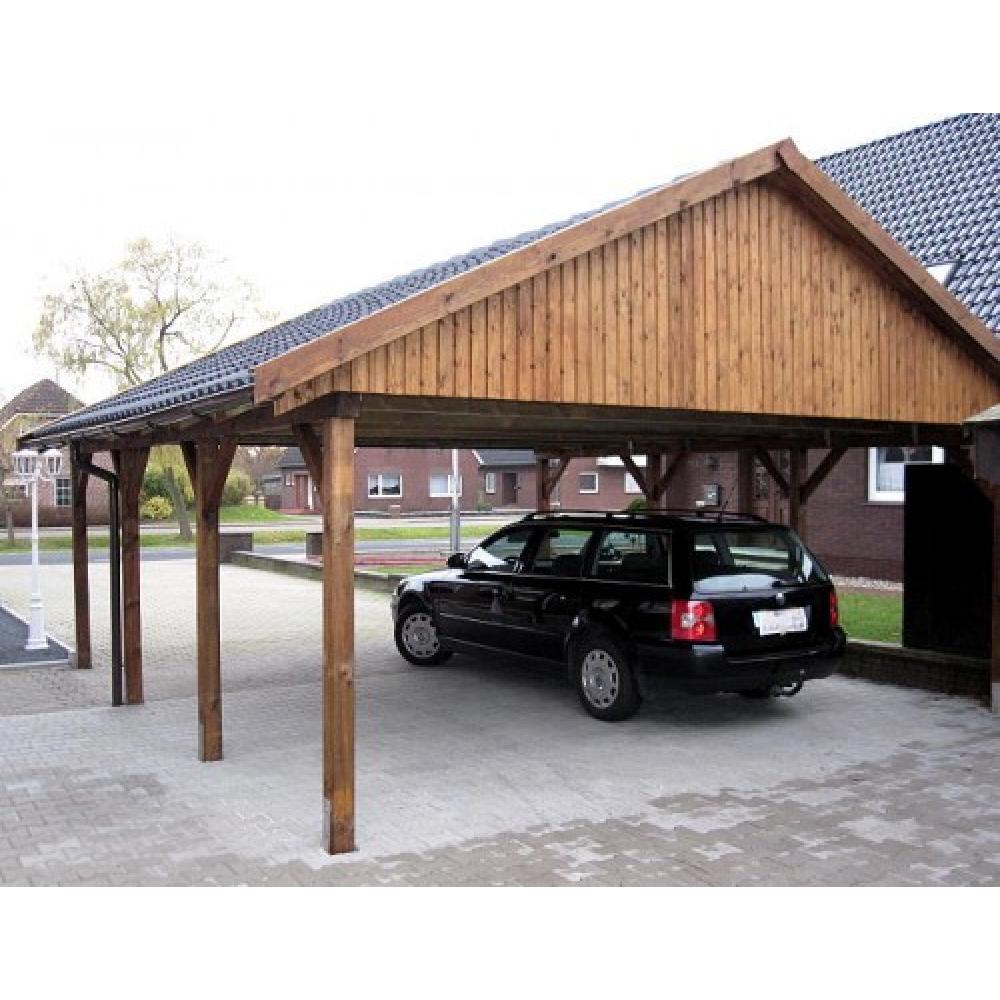 holzspezi prikker carport satteldach monza iv 700cm x 700cm bausatz 150367523809. Black Bedroom Furniture Sets. Home Design Ideas