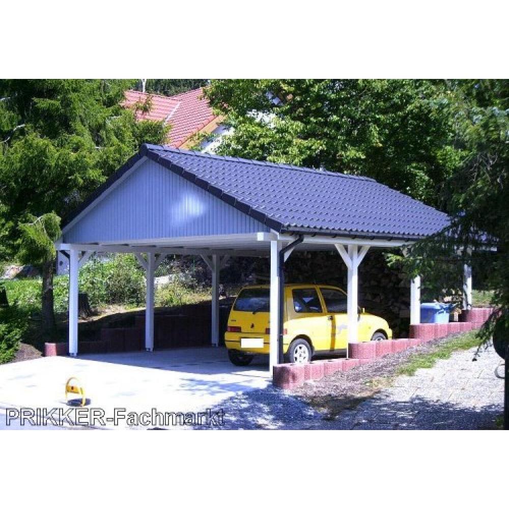 holzspezi prikker carport satteldach monaco v 700cm x 700cm bausatz leimbinder fichte sr12904274. Black Bedroom Furniture Sets. Home Design Ideas