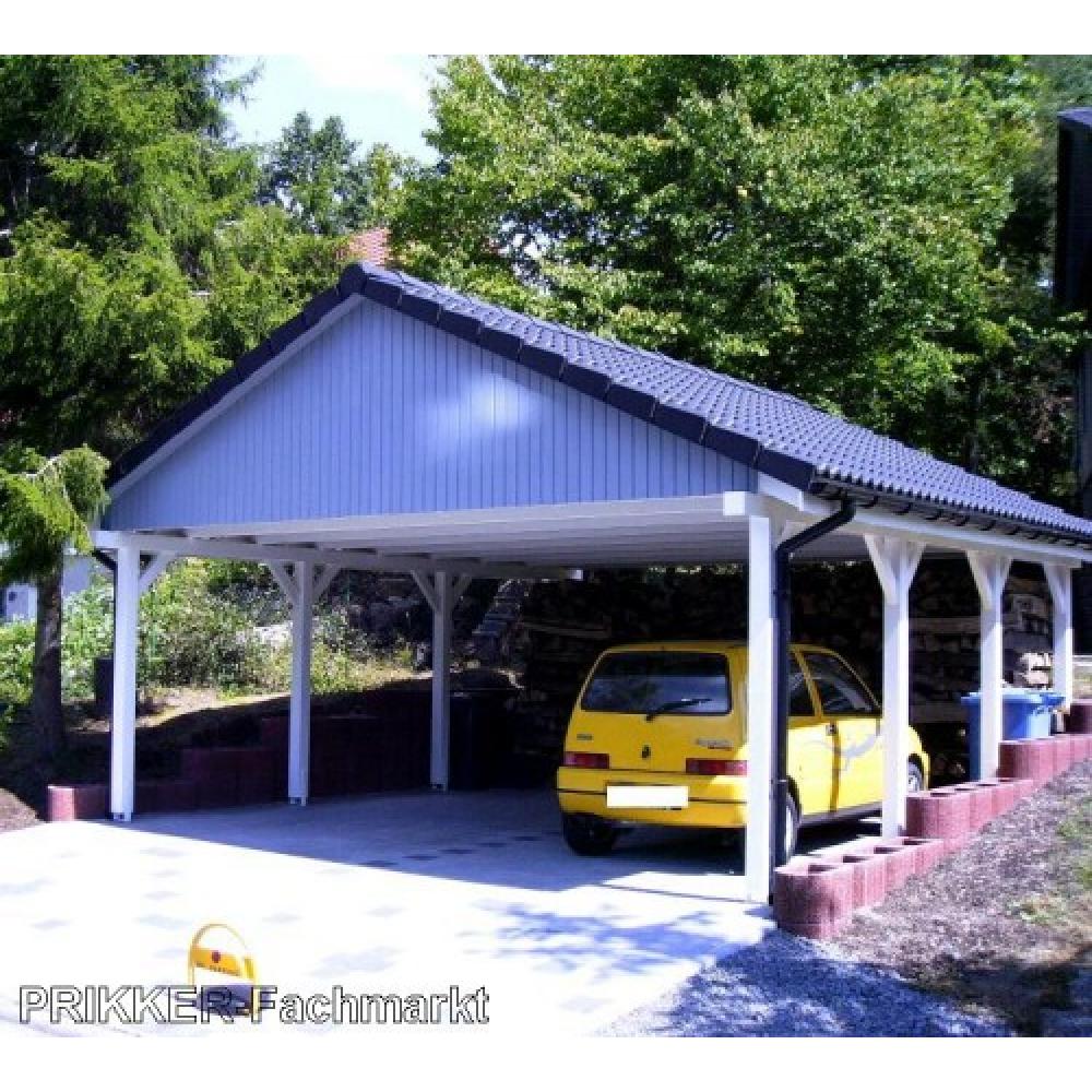 holzspezi prikker carport satteldach monte carlo ii. Black Bedroom Furniture Sets. Home Design Ideas