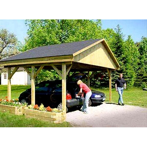 holzspezi prikker carport satteldach monza i 600cm. Black Bedroom Furniture Sets. Home Design Ideas