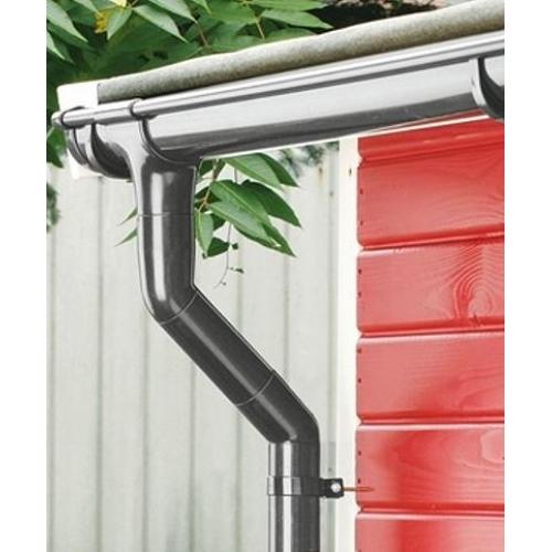 holzspezi prikker dachrinne rinnensatz regenrinne anthrazit 2x500cm komplett set wg84653977. Black Bedroom Furniture Sets. Home Design Ideas