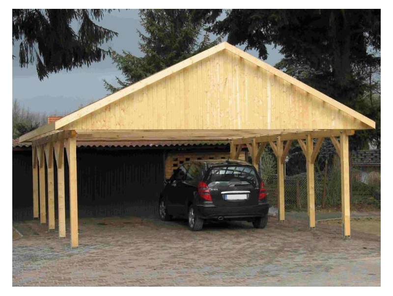 holzspezi prikker carport satteldach monaco vi 800cm x. Black Bedroom Furniture Sets. Home Design Ideas