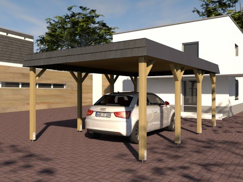 holzspezi prikker carport walmdach sauerland vii 400 x 600cm mit schieferblende lu24020491. Black Bedroom Furniture Sets. Home Design Ideas
