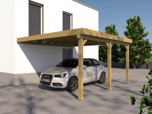 holzspezi prikker anlehncarport carport eifel v 400cm x 500cm bausatz om24685878. Black Bedroom Furniture Sets. Home Design Ideas