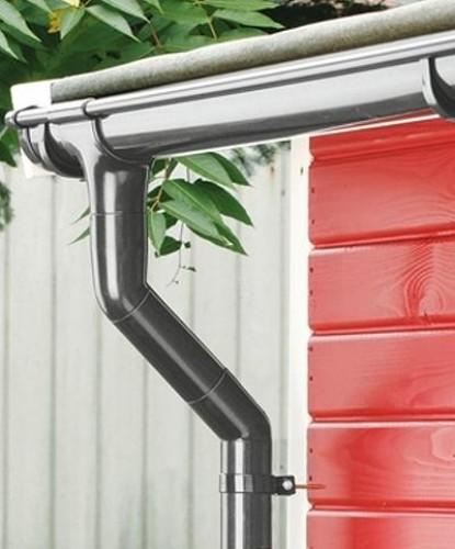 holzspezi prikker dachrinne rinnensatz regenrinne anthrazit 1x400cm komplett set xl26469386. Black Bedroom Furniture Sets. Home Design Ideas