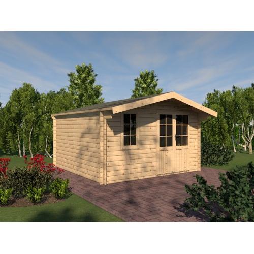 holzspezi prikker gartenhaus 39 harz 39 blockhaus nx10253305. Black Bedroom Furniture Sets. Home Design Ideas