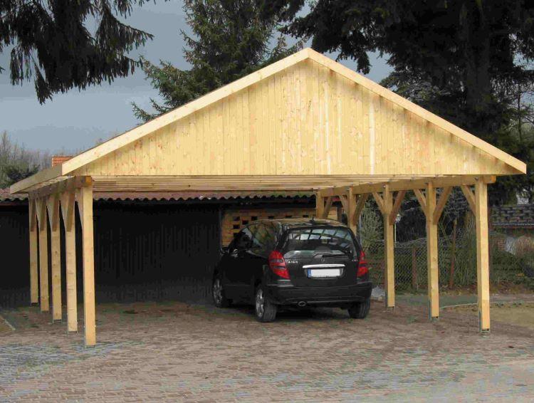 Holzspezi prikker » carport satteldach monaco vi 800cm x 800cm