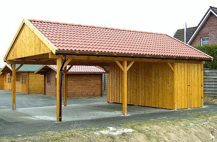 Holzzentrum24 Prikker Carport Satteldach Indianapolis 600cm X 800cm Gerateraum Kvh Fichte Einfahrt Giebel Und Traufseitig Moglich 380219042146